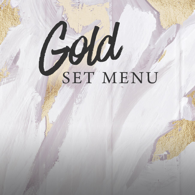 Gold set menu at The Rose & Crown