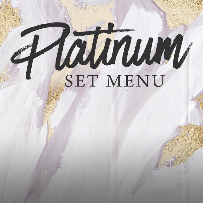 Platinum set menu at The Rose & Crown